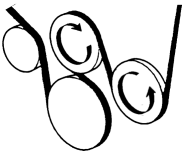 Serpentinový pohon řemenem graficky | PIKRON.cz